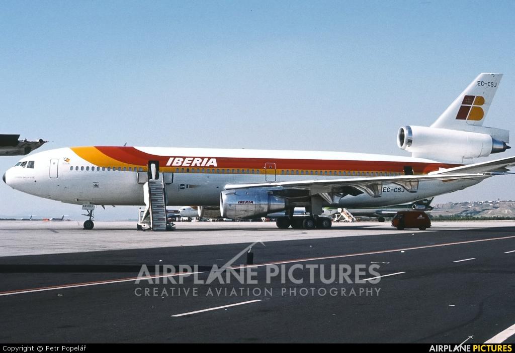 Iberia EC-CSJ aircraft at Madrid - Barajas