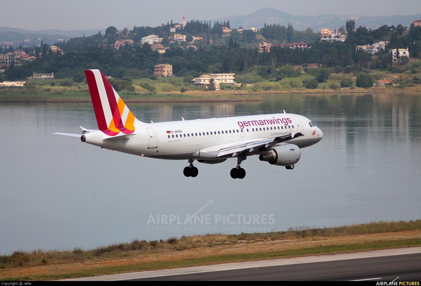 Germanwings D-AKNU aircraft at Corfu - Ioannis Kapodistrias