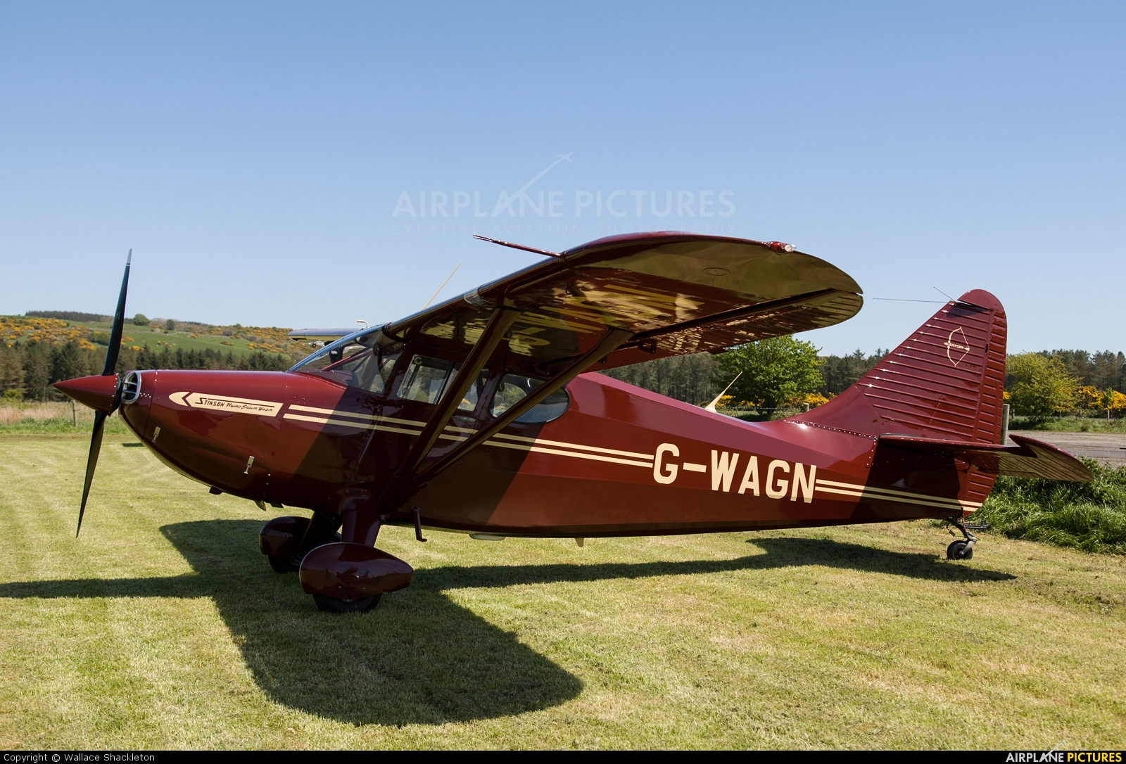 Private G-WAGN aircraft at Castle Kennedy
