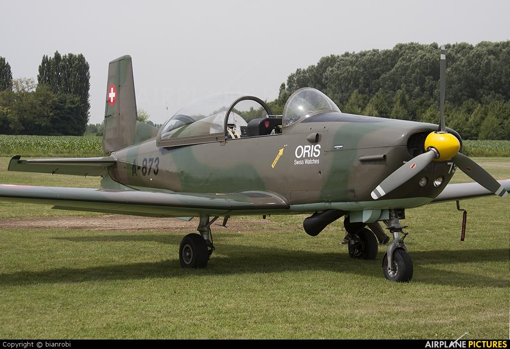 P3 Flyers Ticino HB-RCL aircraft at Montagnana