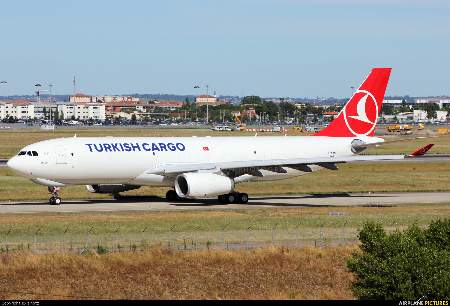 Turkish Cargo F-WWKK aircraft at Toulouse - Blagnac