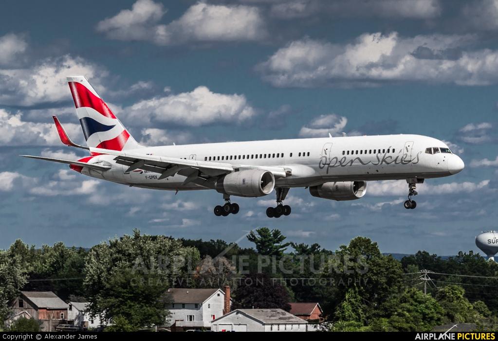 British Airways - Open Skies F-GPEK aircraft at Bradley Intl