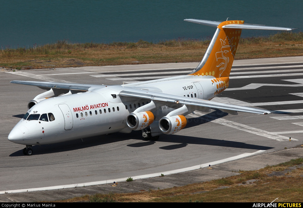 Malmo Aviation SE-DSP aircraft at Corfu - Ioannis Kapodistrias