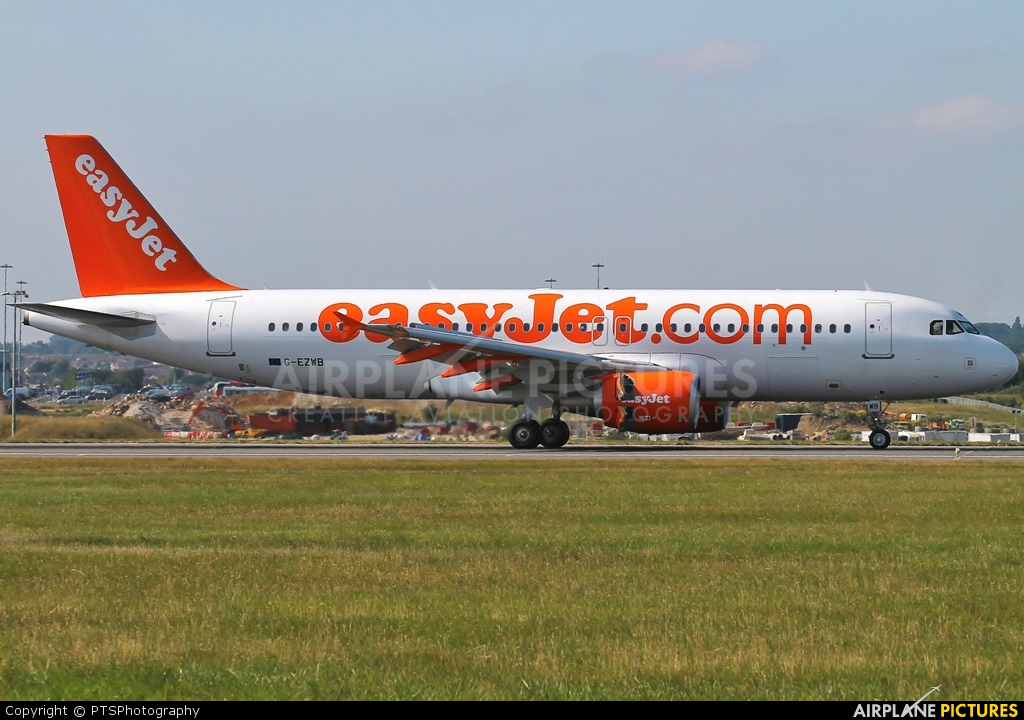 easyJet G-EZWB aircraft at London - Luton