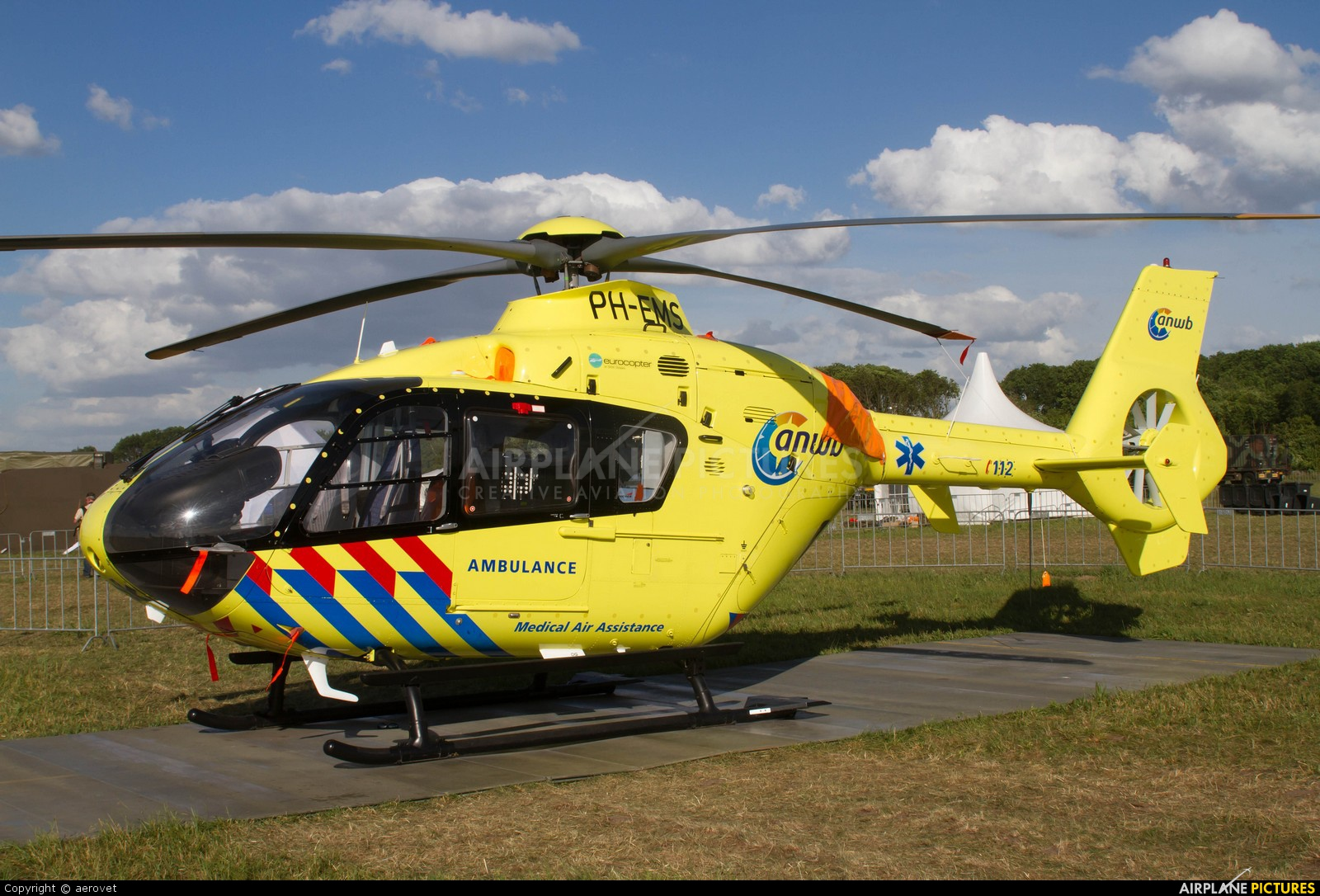 ANWB Medical Air Assistance PH-EMS aircraft at Uden - Volkel