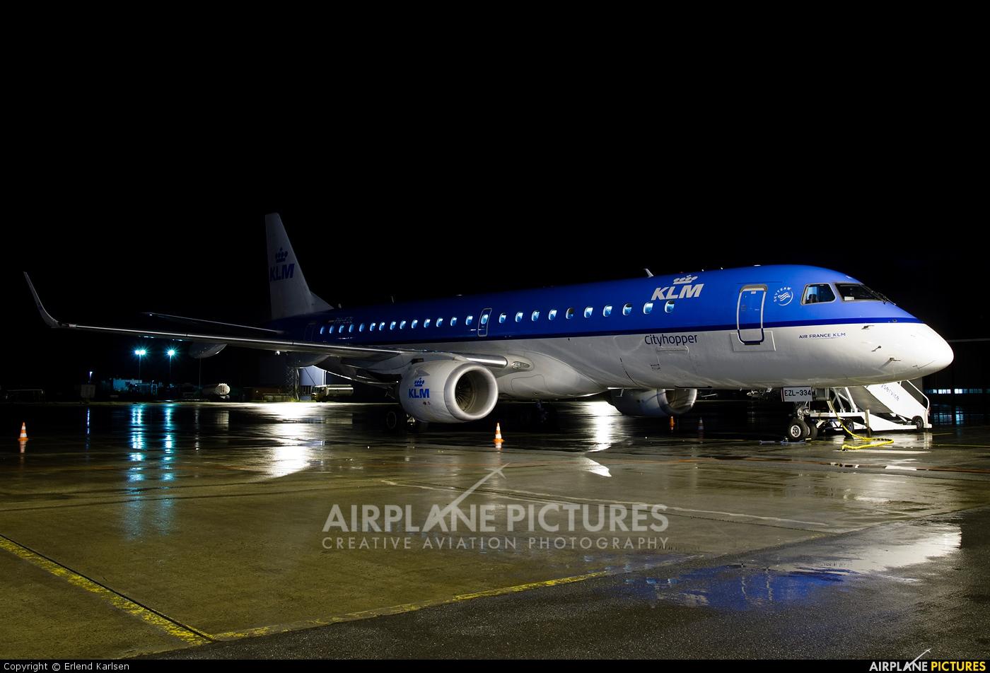 KLM Cityhopper PH-EZL aircraft at Trondheim - Vaernes
