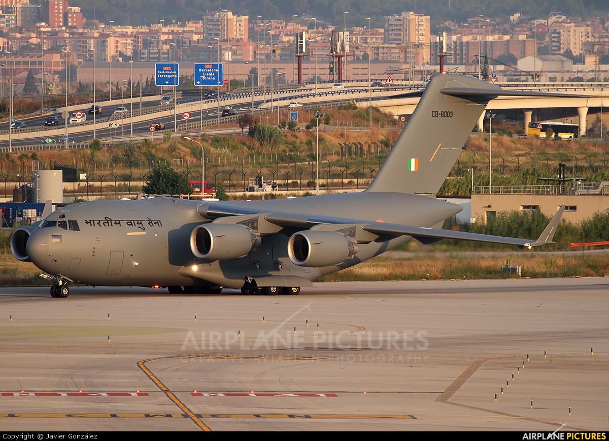 India - Air Force CB-8003 aircraft at Barcelona - El Prat