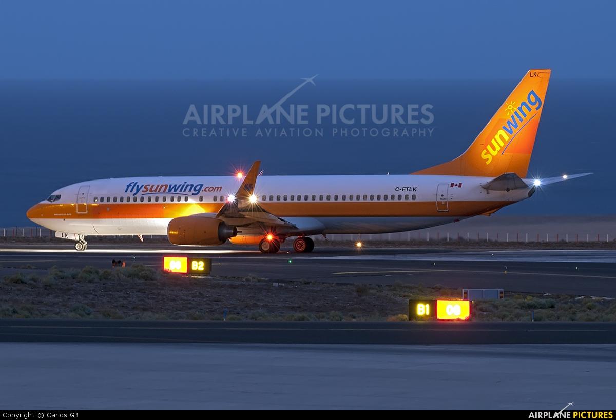 Sunwing Airlines C-FTLK aircraft at Tenerife Sur - Reina Sofia