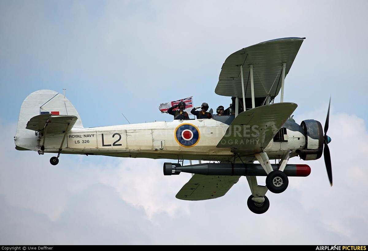 """Royal Navy """"Historic Flight"""" LS326 aircraft at Dunsfold"""