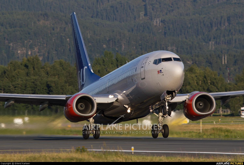 SAS - Scandinavian Airlines LN-TUA aircraft at Trondheim - Vaernes