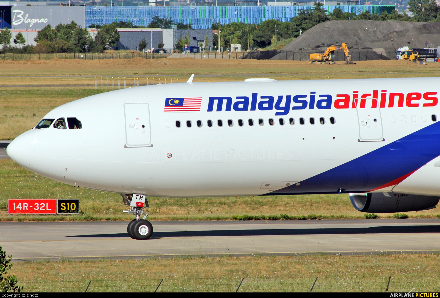 Malaysia Airlines 9M-MTM aircraft at Toulouse - Blagnac