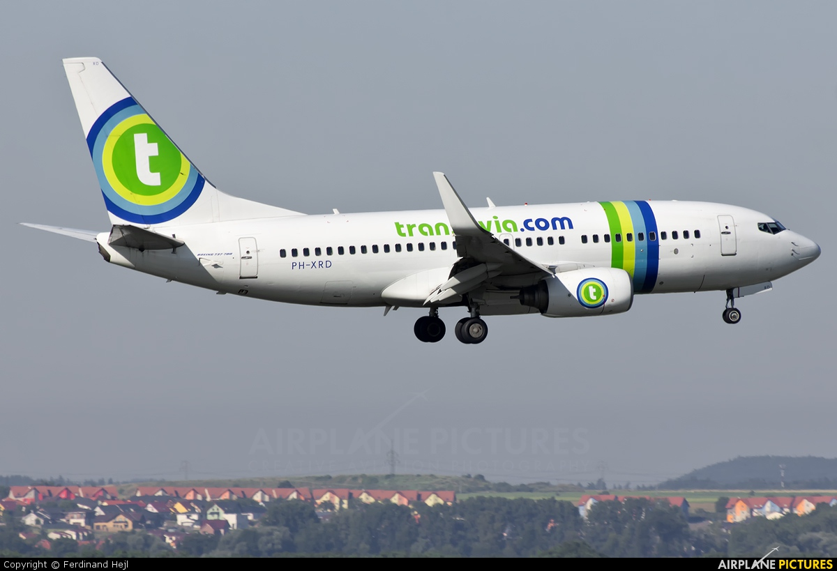 Transavia PH-XRD aircraft at Prague - Václav Havel