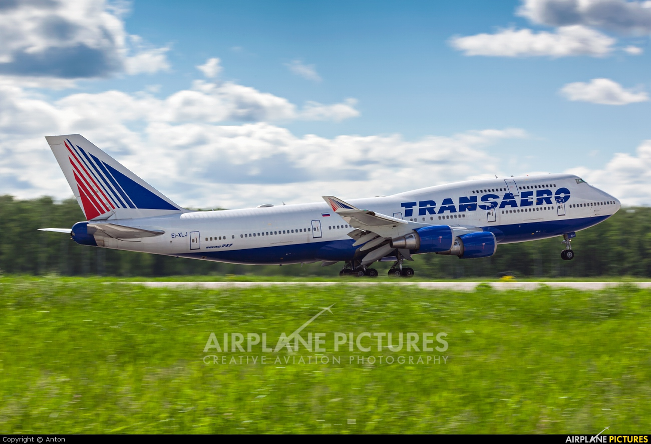 Transaero Airlines EI-XLJ aircraft at Moscow - Domodedovo