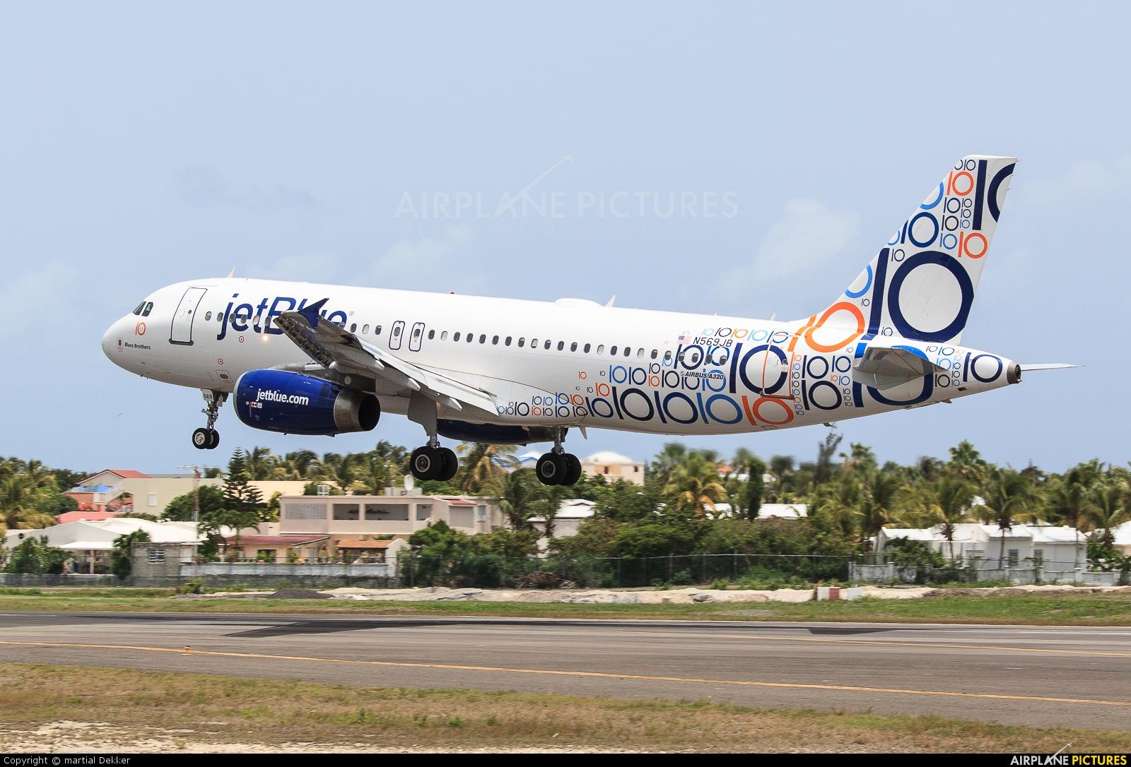 JetBlue Airways N569JB aircraft at Sint Maarten - Princess Juliana Intl