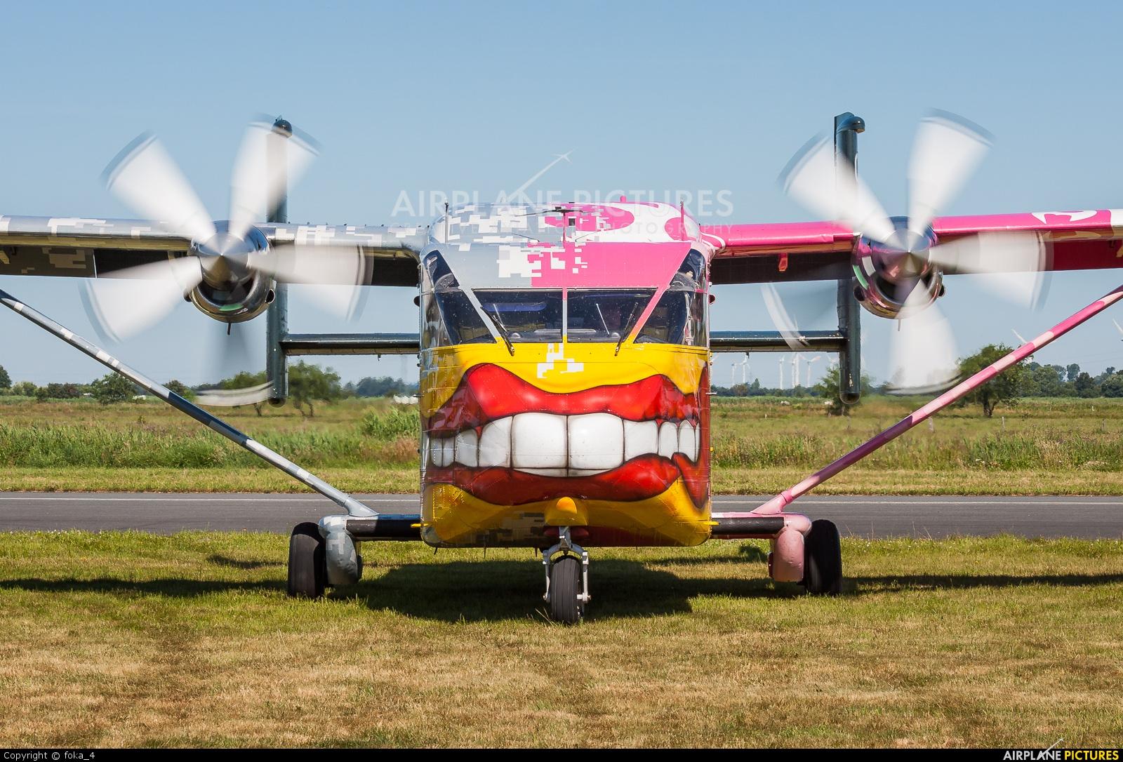 Pink Aviation OE-FDN aircraft at Leer-Papenburg