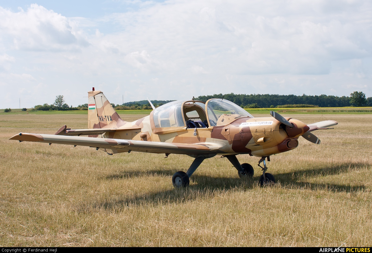 Private HA-TVA aircraft at Roudnice nad Labem