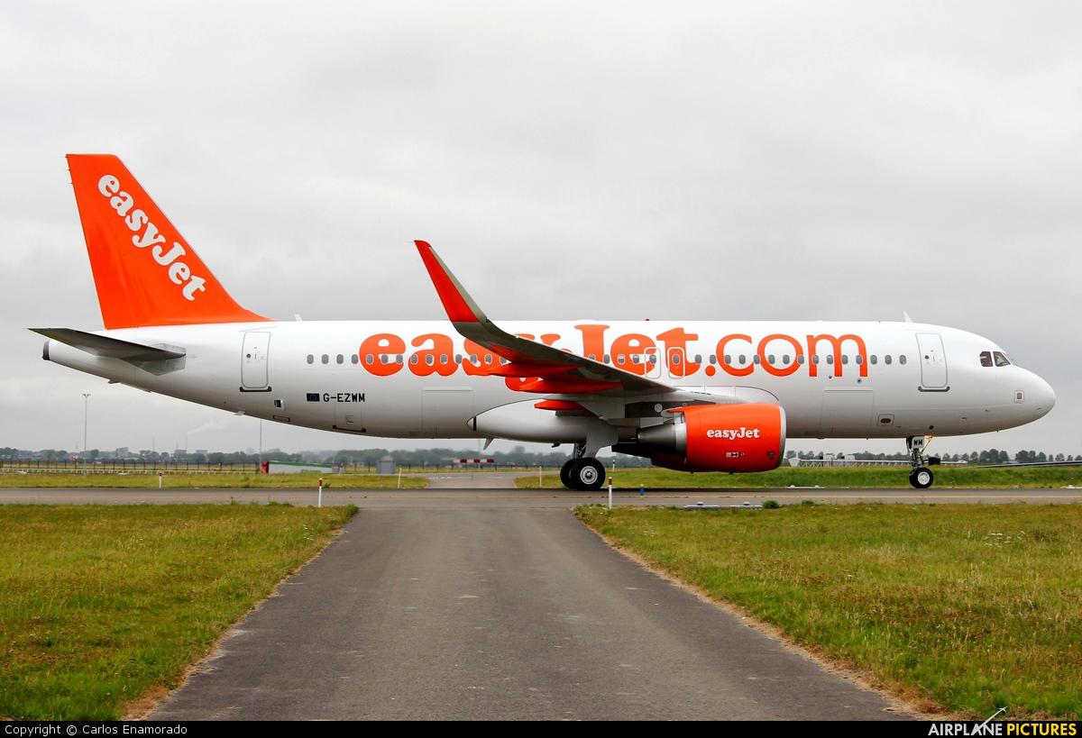 easyJet G-EZWM aircraft at Amsterdam - Schiphol