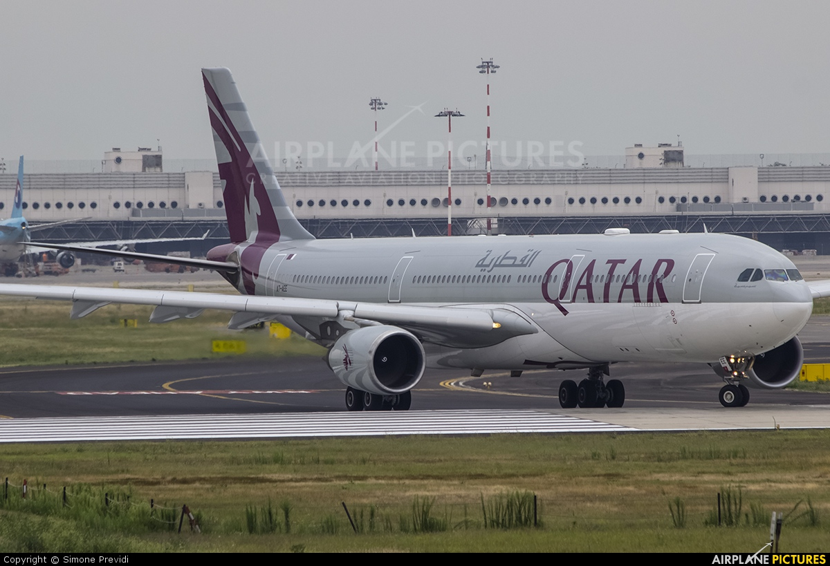 Qatar Airways A7-AEE aircraft at Milan - Malpensa