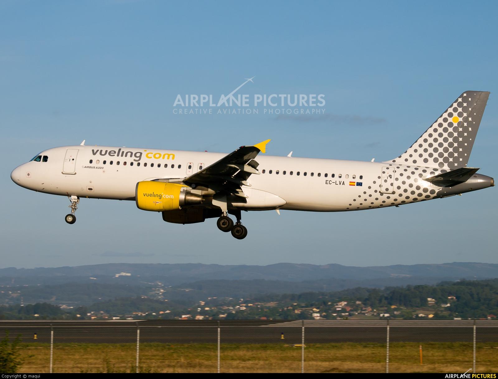 Vueling Airlines EC-LVA aircraft at La Coruña