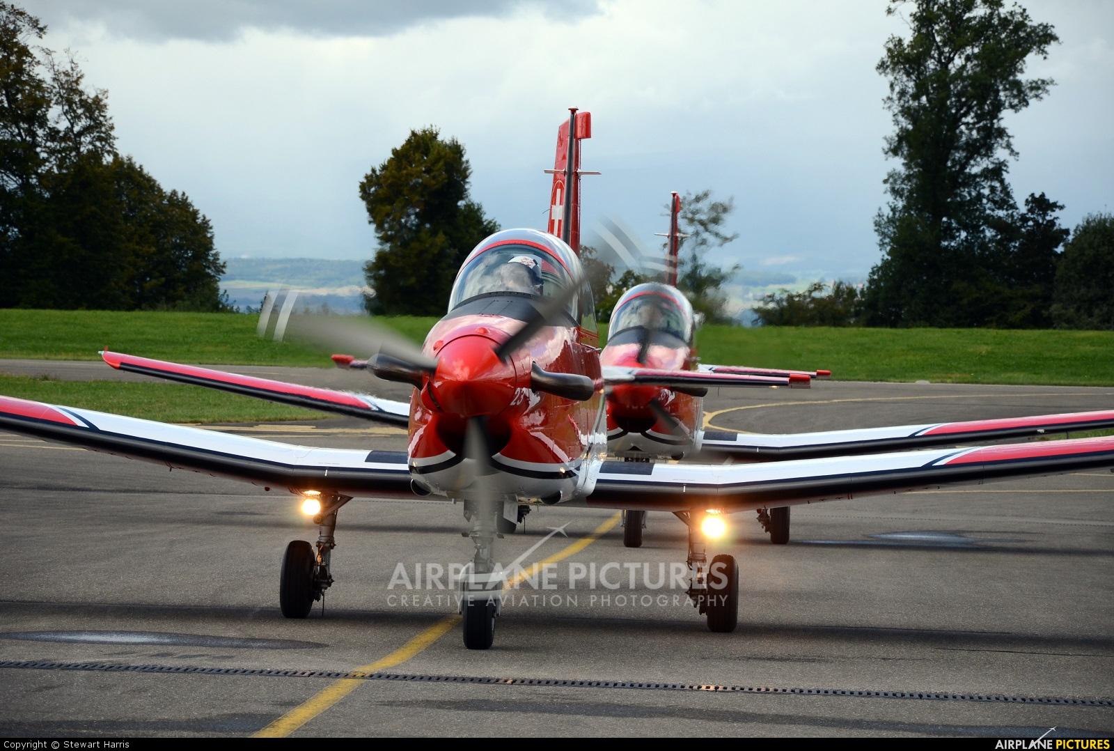 Switzerland - Air Force: PC-7 Team A-923 aircraft at Lausanne - La Blécherette
