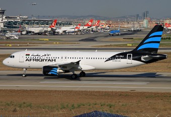 5A-ONJ - Afriqiyah Airways Airbus A320