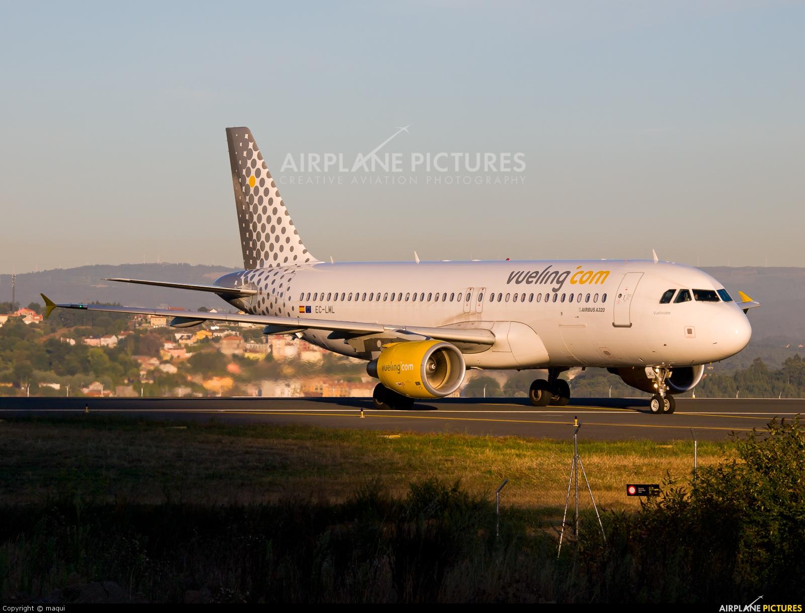 Vueling Airlines EC-LML aircraft at La Coruña