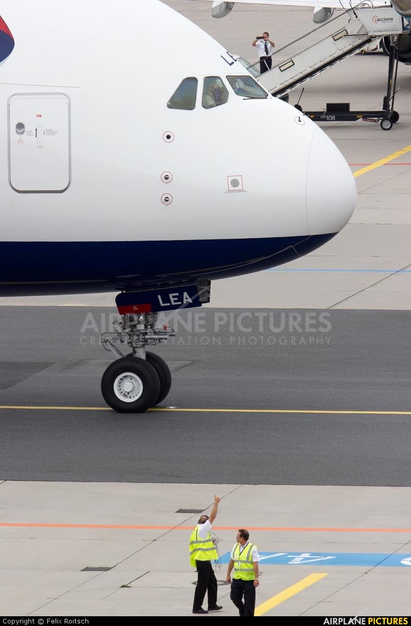 British Airways G-XLEA aircraft at Frankfurt