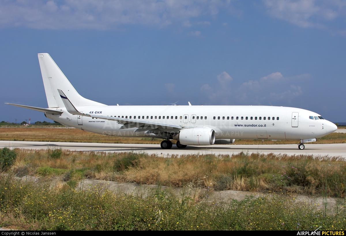 El Al Israel Airlines 4X-EKR aircraft at Rhodes - Diagoras