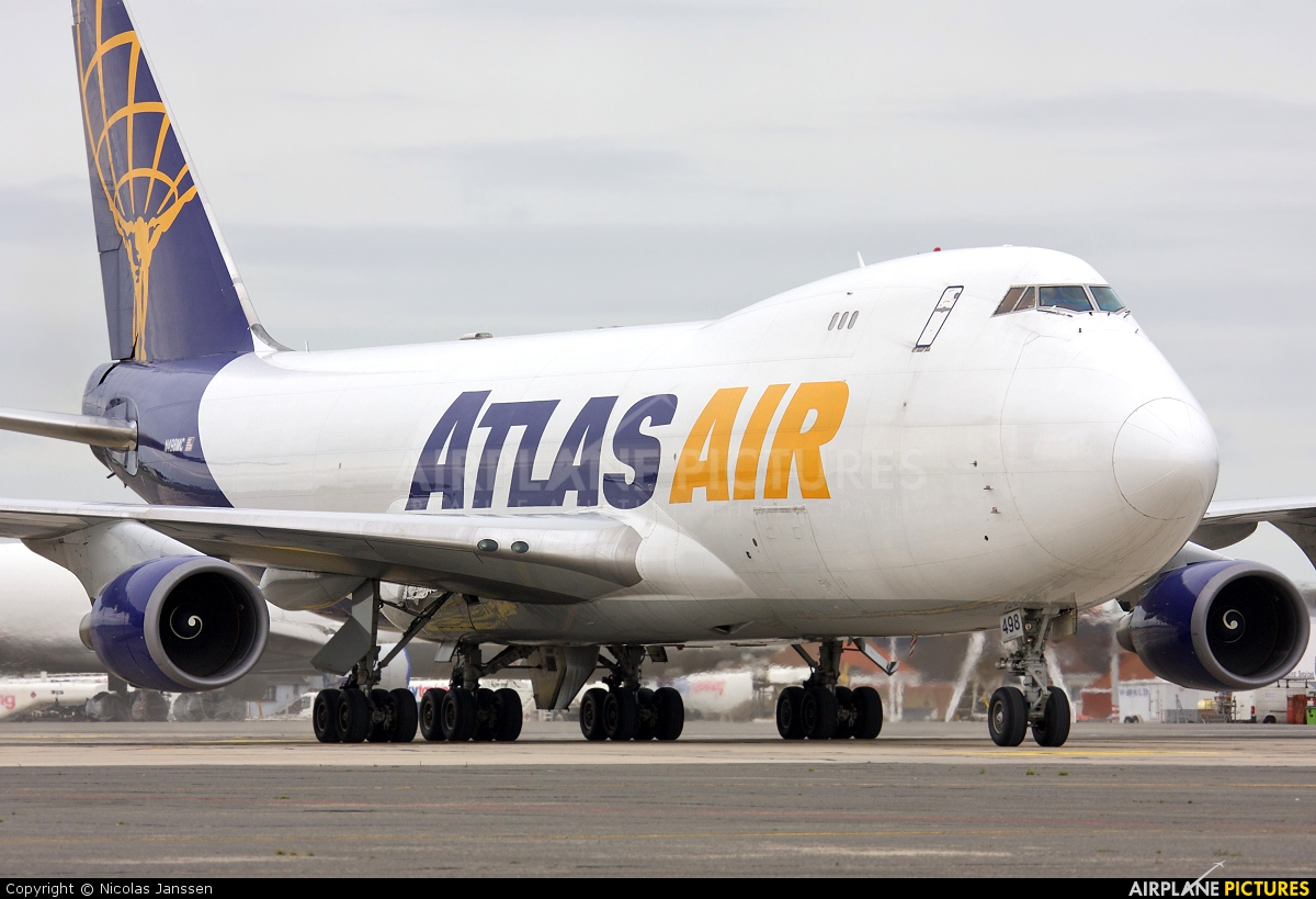 Atlas Air N498MC aircraft at Ostend / Bruges