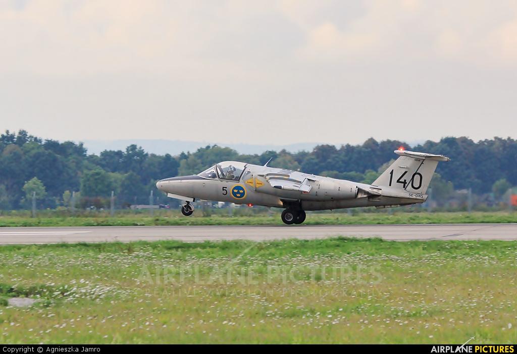 Swedish Air Force Historic Flight SE-DXG aircraft at Ostrava Mošnov