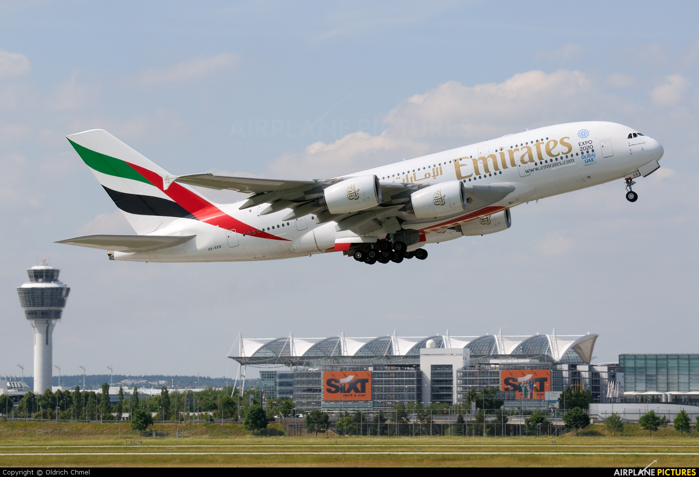 Emirates Airlines A6-EEB aircraft at Munich