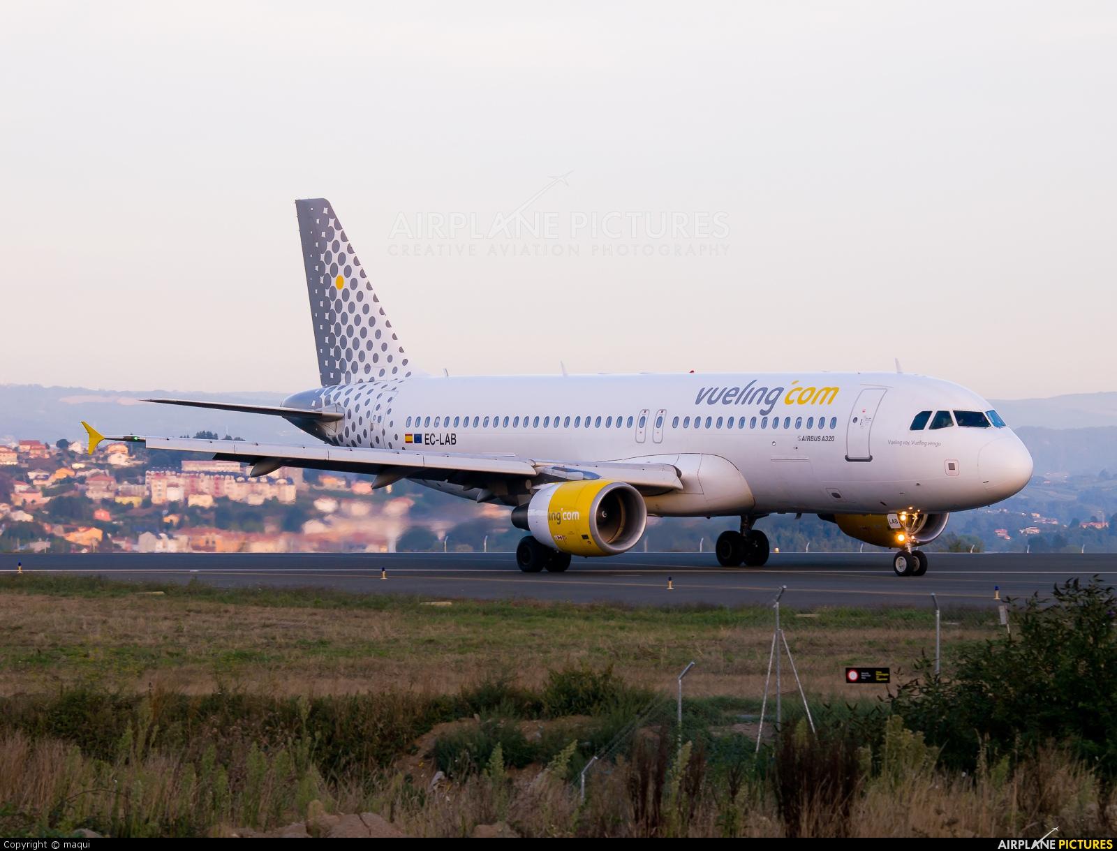 Vueling Airlines EC-LAB aircraft at La Coruña