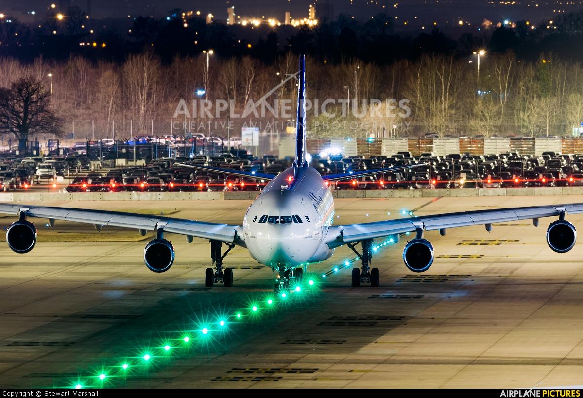 Air Blue AP-EDF aircraft at Manchester
