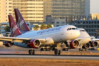 N846VA - Virgin America Airbus A320