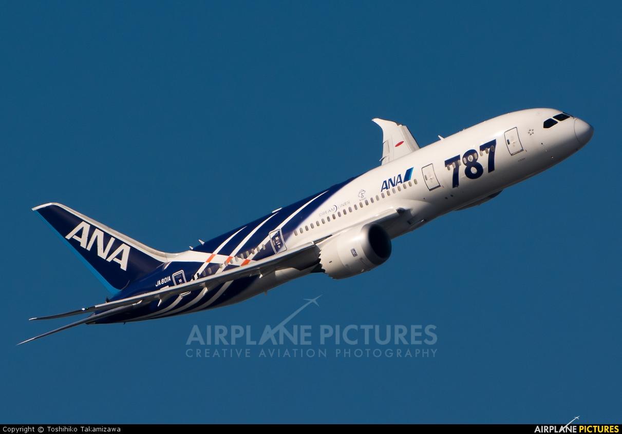 ANA - All Nippon Airways JA801A aircraft at Tokyo - Haneda Intl