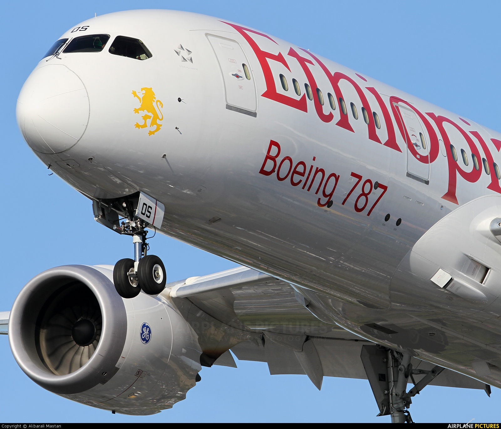 Ethiopian Airlines ET-AOS aircraft at London - Heathrow