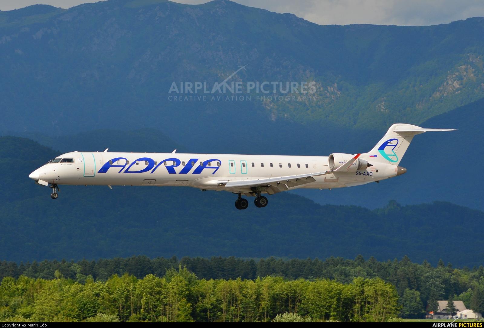 Adria Airways S5-AAO aircraft at Ljubljana - Brnik