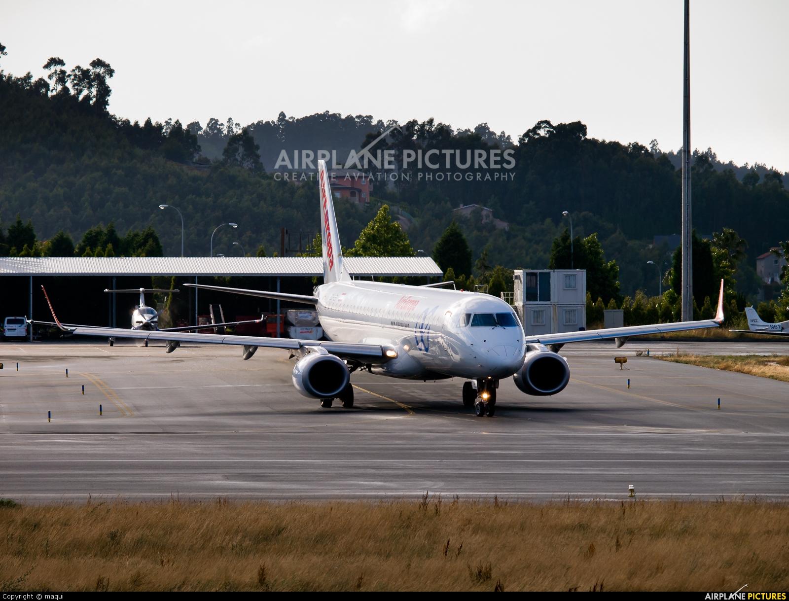 Air Europa EC-LEK aircraft at La Coruña