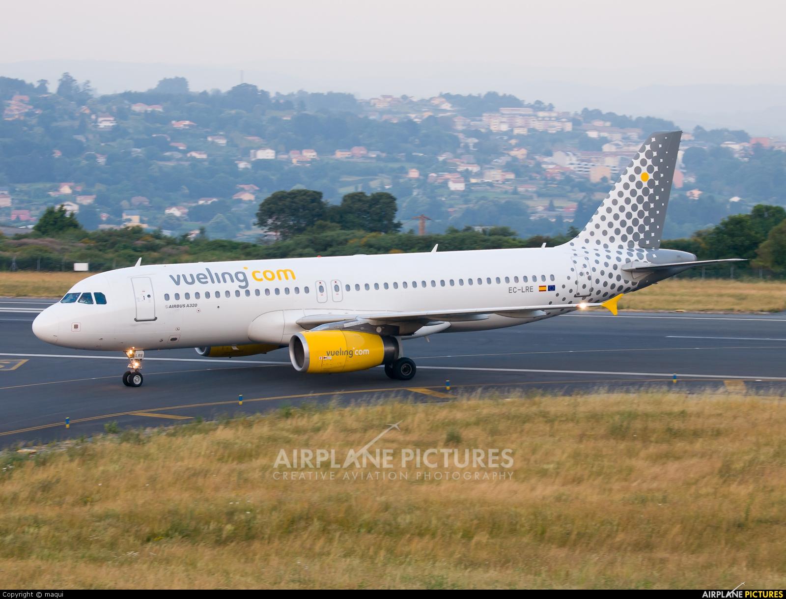 Vueling Airlines EC-LRE aircraft at La Coruña
