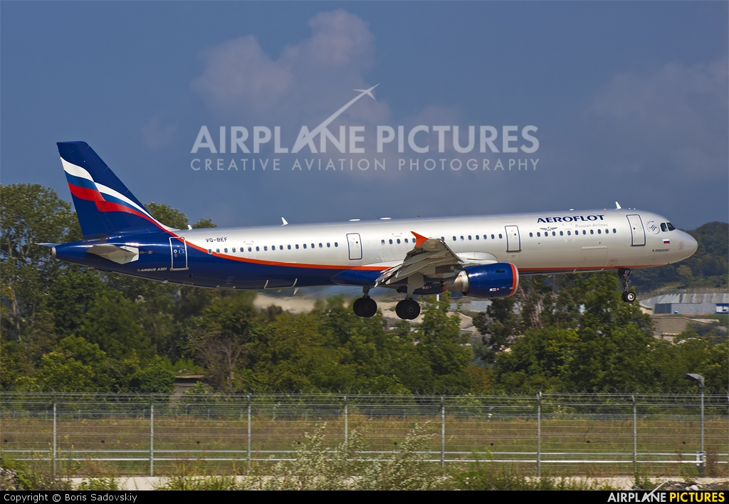 Aeroflot VQ-BEF aircraft at Sochi Intl