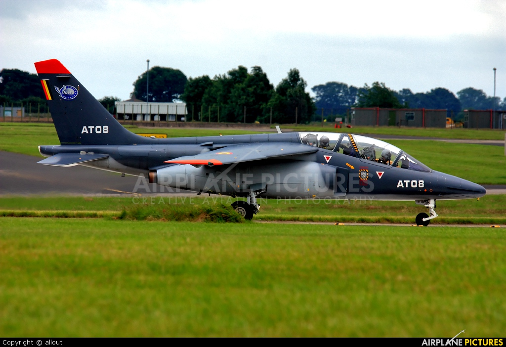 Belgium - Air Force AT08 aircraft at Waddington