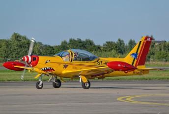 "ST-48 - Belgium - Air Force ""Hardship Red"" SIAI-Marchetti SF-260"