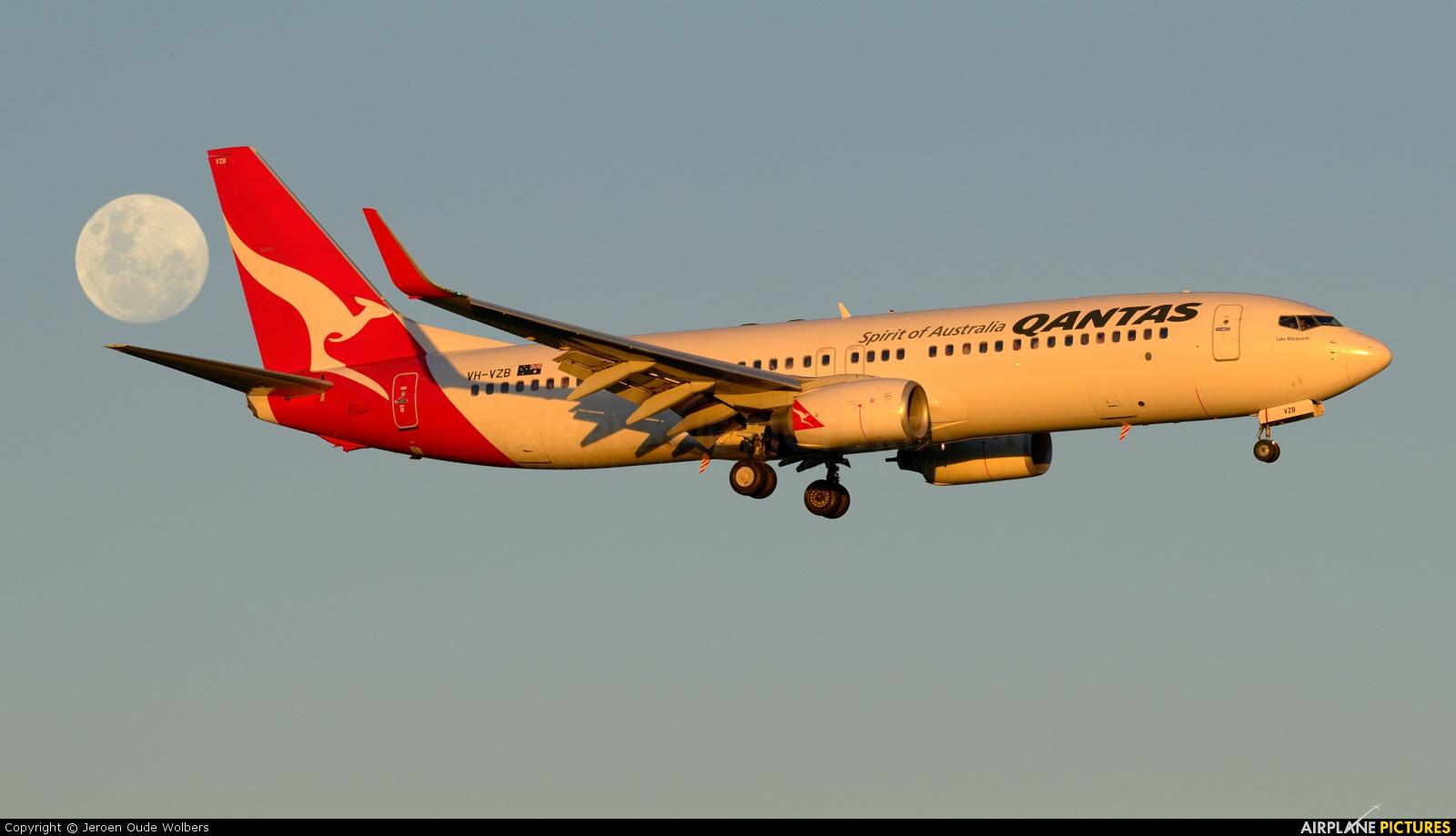 QANTAS VH-VZB aircraft at Melbourne Intl, VIC