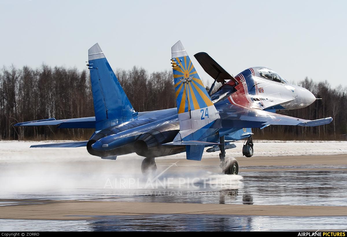 """Russia - Air Force """"Russian Knights"""" 24 aircraft at Kubinka"""