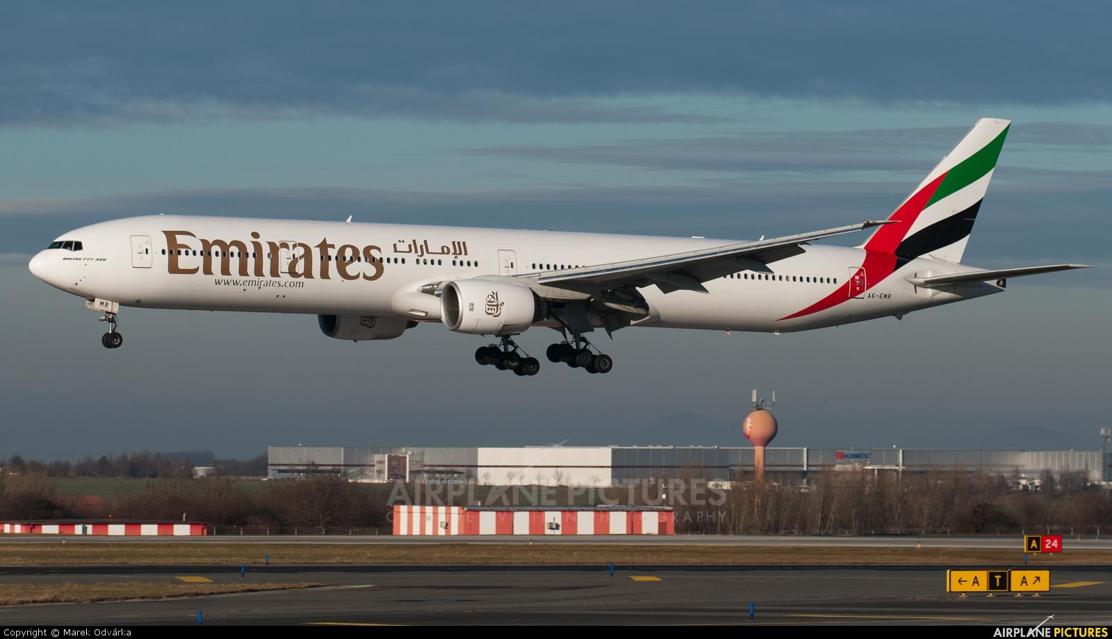 Emirates Airlines A6-EMR aircraft at Prague - Václav Havel