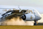 A6-EDT - Emirates Airlines Airbus A380 aircraft