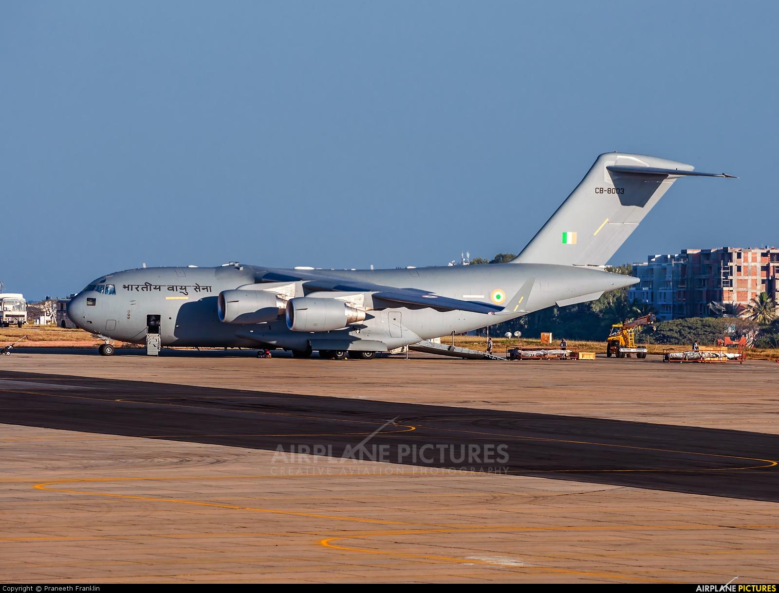 India - Air Force CB-8003 aircraft at HAL Bangalore Intl
