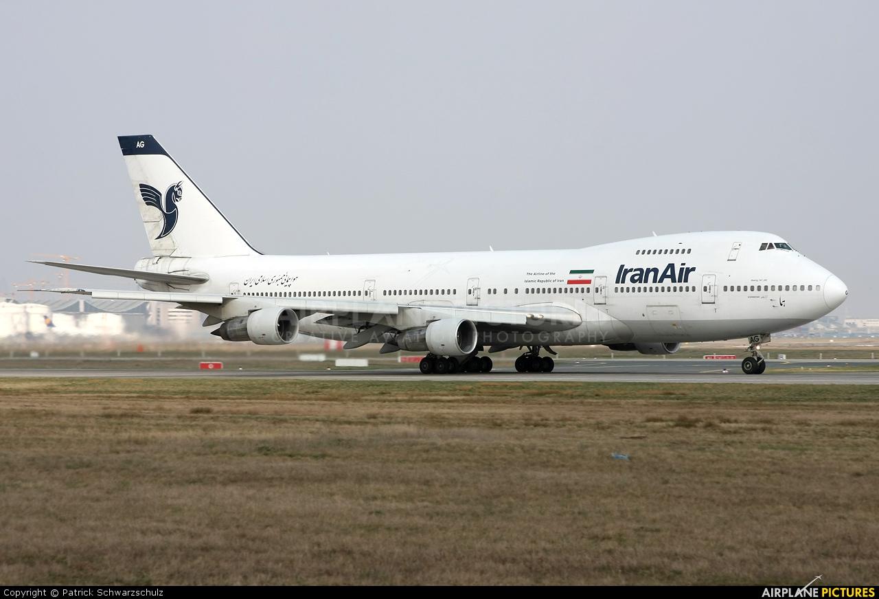 Iran Air EP-IAG aircraft at Frankfurt