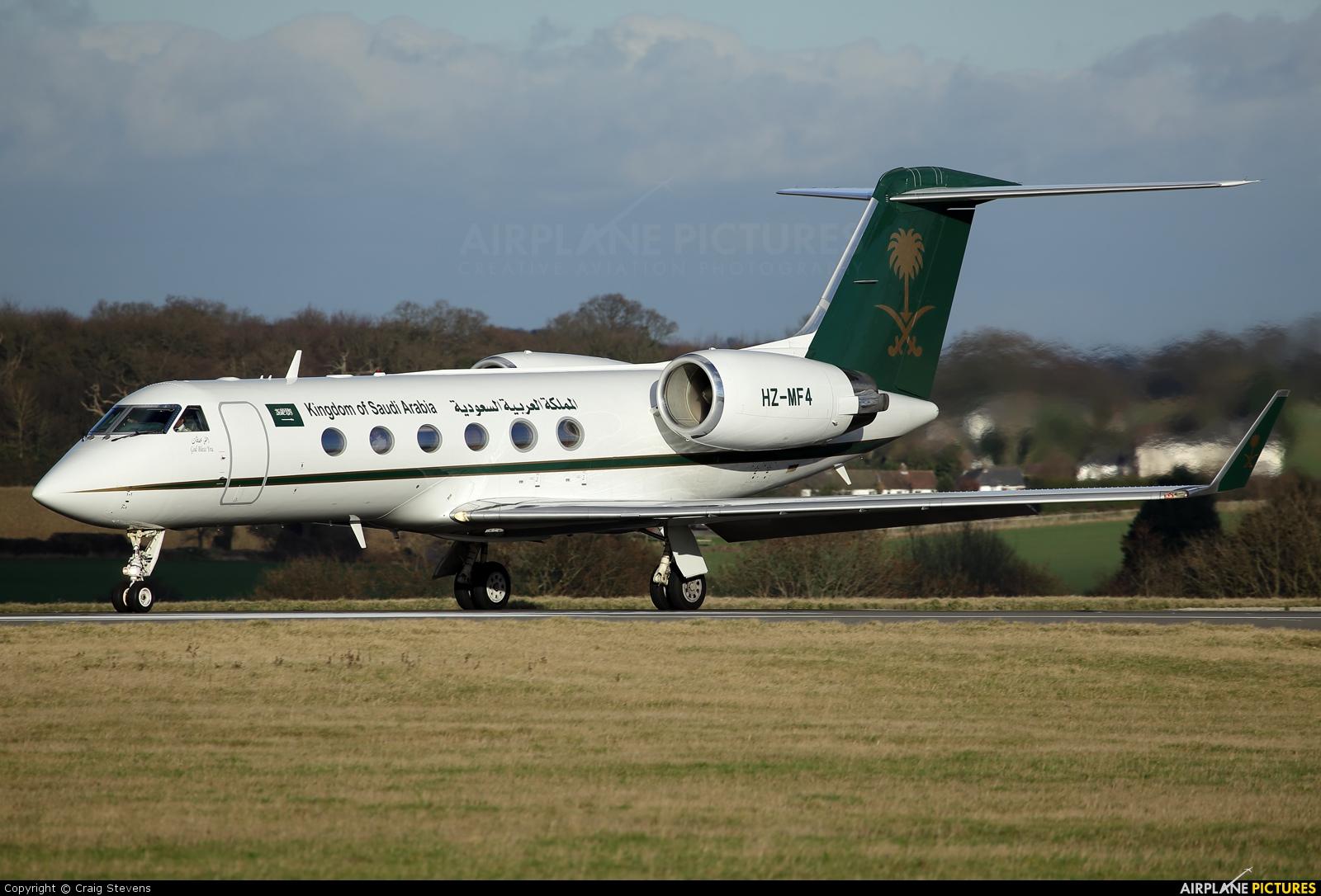Saudi Arabia - Government HZ-MF4 aircraft at London - Luton