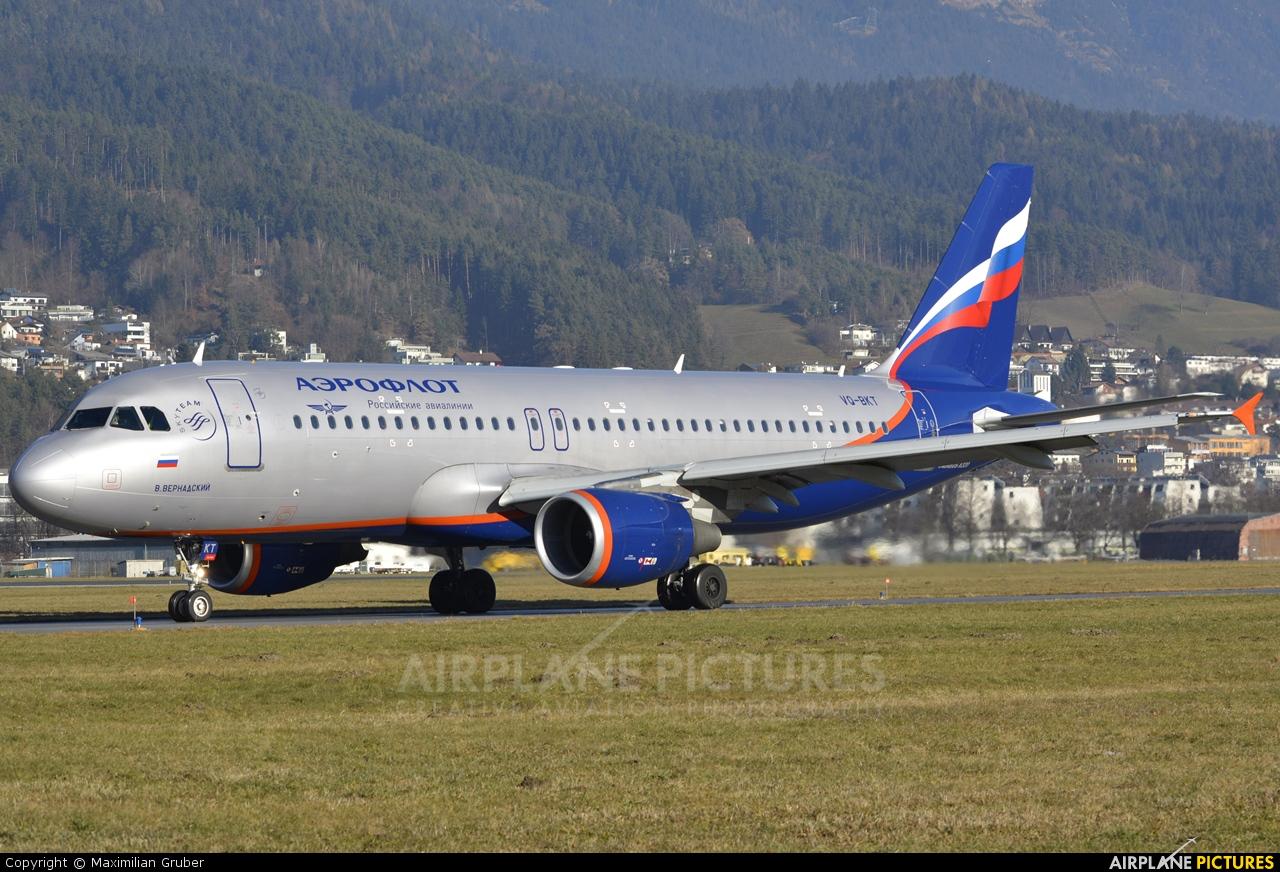 Aeroflot VQ-BKT aircraft at Innsbruck